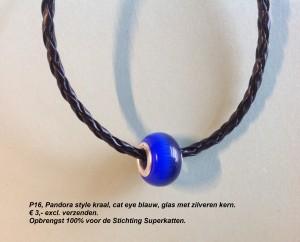 P16 Pandora glas blauw